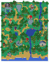 Animal Crossing - Pixelated Town by silvermonochrome