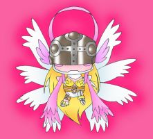 Chibi Angewomon by HarpieLadyFan