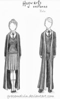 Hogwarts uniforms - winter by GraceMalvin