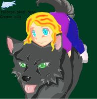 Chloe going for a ride by Grenee