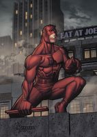 DareDevil on rooftop by RyanKinnaird
