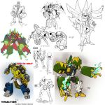 Big heap of robot sketches by weremole