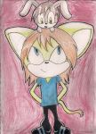 BJ the Kitteh and his bunneh by Razziette