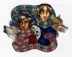 Werewolves in Scarves by kchuu