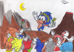 Sonic, the king of fire! by Azulzinho35