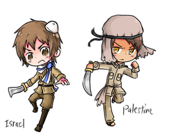 Israel and Palestine by BluesKirby
