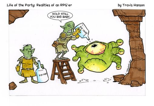 Beholder eye care... rpg comic by travisJhanson