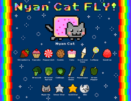 Nyan Cat FLY -Galaxy Chart by krangGAMES