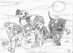 The Walking Dogs (sketch) by wahyawolf
