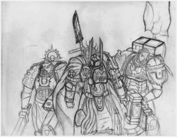 The Three Spacemarines by Hade13