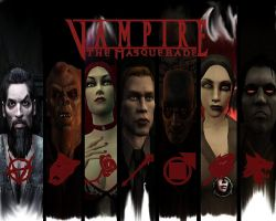 Vampires the masquerade wall by RipCityXX1