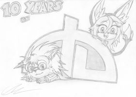 10 years on DeviantART by EUAN-THE-ECHIDHOG