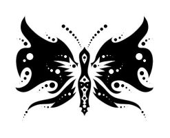 Butterfly Tattoo Design by aconite