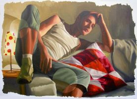 realism painting - Eitan by shharc