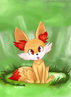 A Wild Fennekin Appeared! by Zeta-Haru