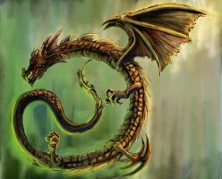 Dragon G by Gold-copper