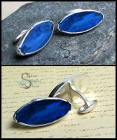 Lightning Ridge Opal Cufflinks by PurlyZig