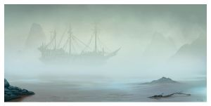 The Foggy Shore by ReneAigner