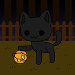 Drawlloween day 21: black cat by to-much-a-thing
