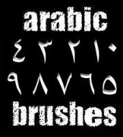 arabic number brushes by gli