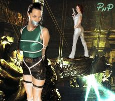 PNP Angelina Jolie Lara Croft Bound 3 by ArtT1000
