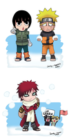 A Ninja Snowball Fight ~ by Sandy--Apples