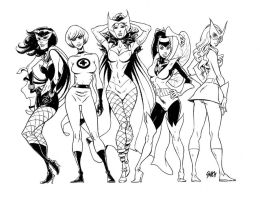 vintage marvel girls by gianmac