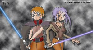Tyr and Rind JEDI KNIGHTS by Grey-Knight