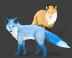 Foxes Request by happymoonwolf