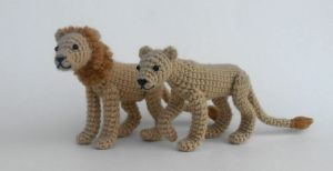 Crochet Lion and Lioness Pattern Now Available! by Pickleweasel360