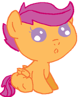 Baby Scootaloo by canineEnthusiast