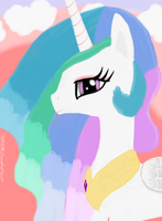 Princess Celestia Portrait by Sludge888
