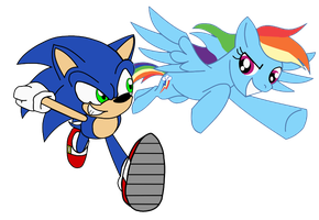 Sonic and Dashie Vectorized by cooleevee759
