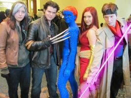 The X-men at Calgary Comic Con by Eolverine
