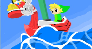 Wind Waker -mouse pad drawing- by foxanimahurricane