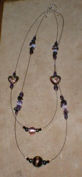 beaded necklace by goffgrrl