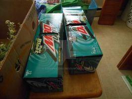 Cans of Baja Blast by canona2200