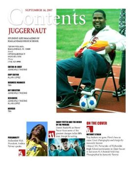 Juggernaut Contents Page by JGT