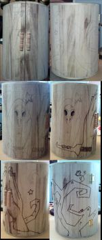wood commode 'friendship' wip by CiceroVanStain