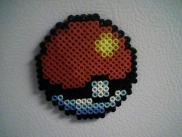 Perler Pokeball by AlwaysLoveLorn