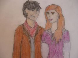 Merlin and Anabella by LadyLewind