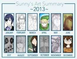 My 2013 Art Summary by CrypticGrin