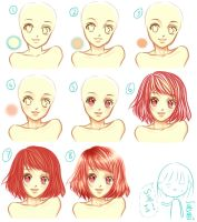 simple skin and hair tutorial^^ by satsuki96