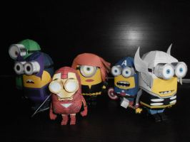 Avengers Minions Papercraft by djl91