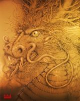 Traditional Chinese Dragon by PaperCutIllustration