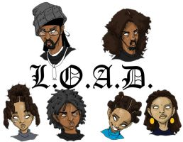 L.O.A.D. virtual hip hop band by El-Dobson