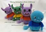 Free Amigurumi Monster Pattern by sojala