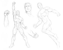Green Lantern poses and details by Almayer
