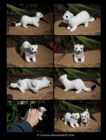 SOLD Plushie: Eirwen the Ermine by Avanii