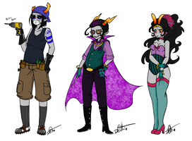 Horrorstuck Costumes Concepts2 by Squidbiscuit